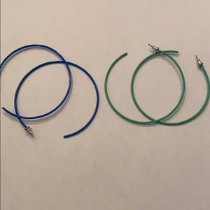 Large Hoop Earrings- 2 Pair